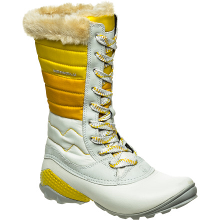 Bypass frumpy-looking winter boots for the Merrell Women's Winterbelle Waterproof Boots. These comfortable, waterproof winter boots feature cozy fleece linings and Opti-Warm insulation that supply warmth and comfort on snowy walks from the resort base lodge to your vehicle. - $127.50
