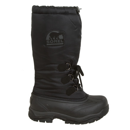 The over-the-calf, water- and wind-resistant nylon uppers on the Sorel Womens Snowlion Boots arent kidding around when it comes to deep snow. After a particularly long dogsled ride, driveway shovel session, or snowy walk with your pup, you can remove the felt inner boots and throw them in the wash. Pull the drawstring at the top of these tall boots tight and use the barrel lock closure to keep cold air out. Sorel rated these technical, lightweight winter boots down to -40 degrees Fahrenheit. - $93.46