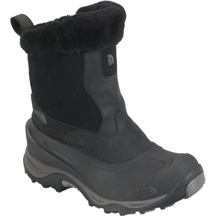 When you're bundled in snow pants, parka, hat, and even gloves, the last thing you want to do is fumble with boot laces. Keep it easy this winter with The North Face Women's Greenland Zip II Winter Boot. A side zip makes gearing up for an excursion into Arctic weather a breeze; once you're out in the cold, the boot's 400g PrimaLoft Eco insulation keeps your toes toasty (down to -40 degrees, even). The waterproof nubuck, suede, and TPR upper keeps out moisture of any kind, while a genuine shearling collar adds coziness and class. - $95.96