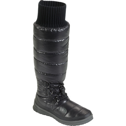 Camp and Hike Wish you could just wear your down-filled tent booties around town' The North Face Women's Gotham High-Rise Boots take that wish one step further with over-the-calf warmth and ice-ready soles. - $83.97