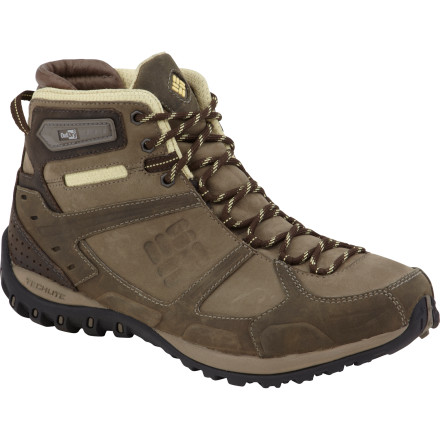 Camp and Hike Grab your daypack, lace up the Columbia Women's Yama Mid Leather Outdry Hiking Boots, lock your car, and get ready to tackle an eight-mile hike in mid autumn. These full-grain leather boots feature waterproof breathable OutDry technology to keep your feet dry and comfortable if the clouds roll in, while the articulated collar system offers superb ankle support. - $43.49