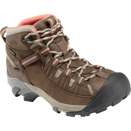 Camp and Hike Keen calls its Women's Targhee II Mid Hiking Shoe 'four wheel drive for your feet,' and, well, it's the truth. Sturdy, breathable, and light, this mid-height shoe lets you hike, backpack, scamper, or scramble far from the world of pavement. - $129.95