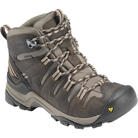 Camp and Hike The KEEN Women's Gypsum Mid Hiking Boot was designed to handle hiking and backpacking, so it can definitely stand up to your morning stroll to the coffee shop. Keen built the Gypsum with plenty of cushioning and stability to get you where you need to be without frozen feet or face-plants. - $76.99