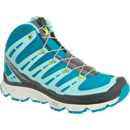Camp and Hike Salomon designed the Women's Synapse Mid Hiking Boot for the ultralight fastpacker crowd. Salomon's focuses during the design of the Synapse were versatility, light weight, and runability (the ability to turn a hike into a run). - $139.95
