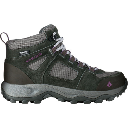 Camp and Hike Surround your foot and ankle with the Vasque Women's Vector WP Hiking Boot for protection in wet weather and security on rough trails. The women-specific Vector is equipped with an UltraDry membrane to keep the showers and mud puddles out during spring and summer hikes. When backpacking or carrying a pack, the tall collar stabilizes your ankle to help prevent twists and sprains on uneven terrain. - $68.97