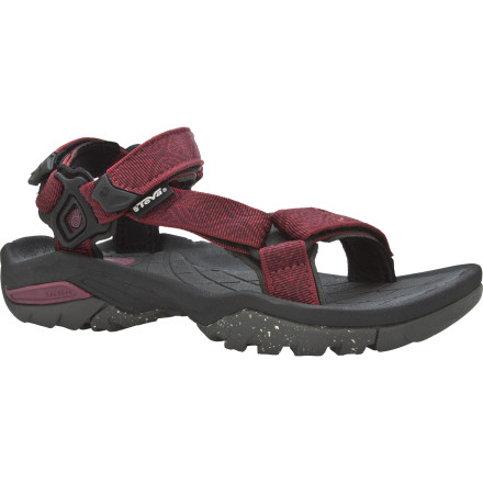 Entertainment A few things on the Teva Women\342\200\231s Terra Fi 3 Sandal may be new, but the proven comfort and grip on any wet or dry surface is the same. A new Shoc Pad in the heel and the antimicrobial EVA footbed of this classic sport sandal are just a few features bound to keep you and your foot happy on your excursions. - $58.47