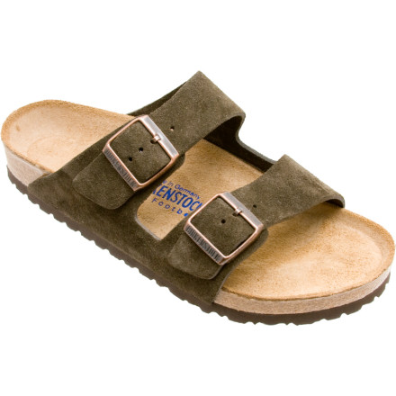 Entertainment Toss aside those high-heels or uncomfortable shoes and slip into the Birkenstock Womens Arizona Soft Footbed Suede Narrow Sandal. With the Soft Footbed, it is as if you are walking on feathers. - $97.50