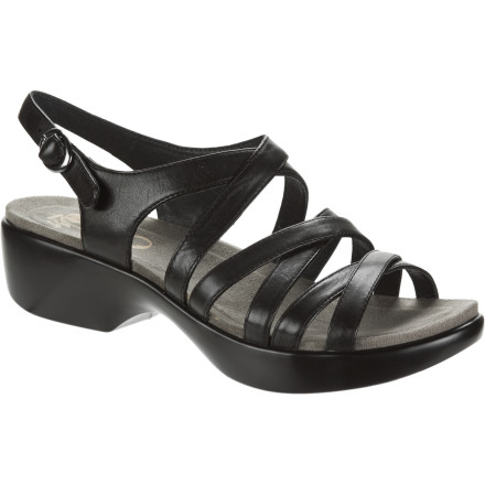 Entertainment Whether you're on your feet all day at work or trying to clean up after your toddler, the Dansko Women's Dani Sandal cradles your foot all day and gives you a relaxed, casual look that is practical and versatile. - $99.96