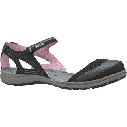 Entertainment Get the comfort and performance of a water sandal without sacrificing your style when you slip on the Teva Women's Pasas Mary Jane Shoe. Water-friendly features and a cushy Mush topsole will make this sleek, streamlined MJ your go-to shoe for beach walks and boardwalks alike. - $39.98