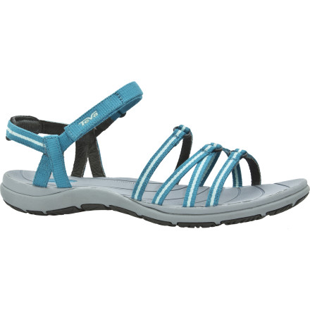 Entertainment The Teva Women's Kokomo Sandal proves that aquatic functionality doesn't have to totally trump a feminine look. A sexy and slim style goes hand-in-hand with water readiness in the Kokomo design, so you can enjoy endless, careless days on the beach. - $39.98