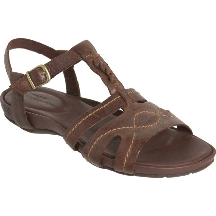 Entertainment Add a dash of fresh style to your comfort-oriented ensemble with the Timberland Earthkeepers Pleasant Bay Ankle Strap Sandal. Take a stroll alongside the beach or peruse the shops downtown, all while knowing you're reducing your ecological footprint even as you leave physical ones. - $40.48