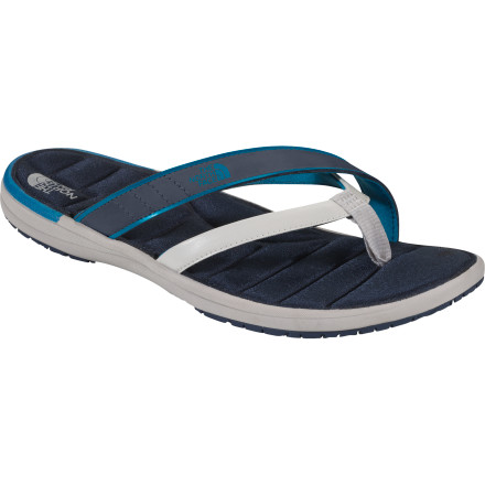 Entertainment Synthetic materials and padded Tenacious Grip rubber outsoles make The North Face Women's Tupelo Sandals ideal for anything you do around water (including dodging raindrops). - $20.99