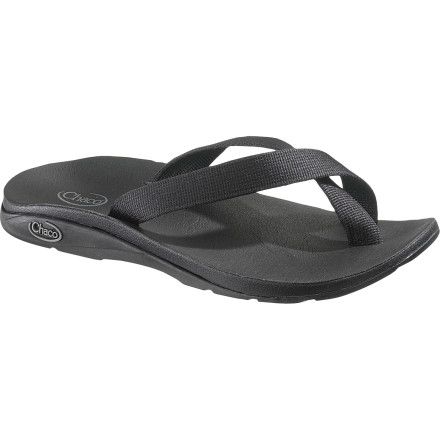 Camp and Hike The trail eventually leads to camp, where the Chaco Women's Tanana Eco Tread Sandal waits to give your foot the proper relaxation platform for winding down, drinking, and cooking dinner with a couple close friends. - $34.98