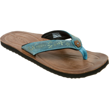 Entertainment Toss out your old plastic flip-flops you bought at the gas-station and upgrade to the KEEN Women's Florence Sandal. The leather straps and footbed provide lush comfort, while the antimicrobial Hydrophobic mesh lining dries quickly and keeps odor at bay. - $29.97