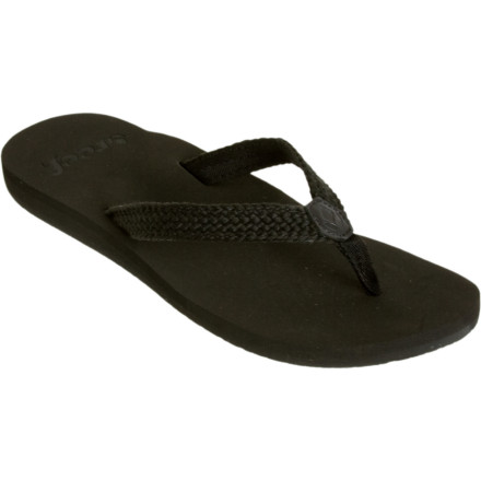 Entertainment After a day on rough beaches and hot sand, give your toes a break with the Reef Womens Mallory Sandal. This sandals ultra-soft woven strap wont dig in and its EVA sole features anatomical arch support so you can stay on your feet without any complaints from the little piggies. - $16.47