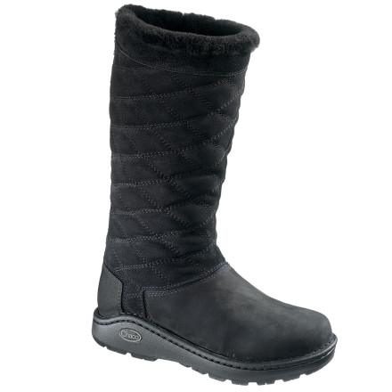 Surf Dive into winter feet-first wearing the Chaco Women's Arbora Tall Waterproof Boot. Featuring all the Chaco comfort you love in your river sandals, the Adora wraps your foot in breathable warmth with a shearling-lined, quilted leather shaft, wool-lined foot interior, and pigskin-covered footbed. - $143.97