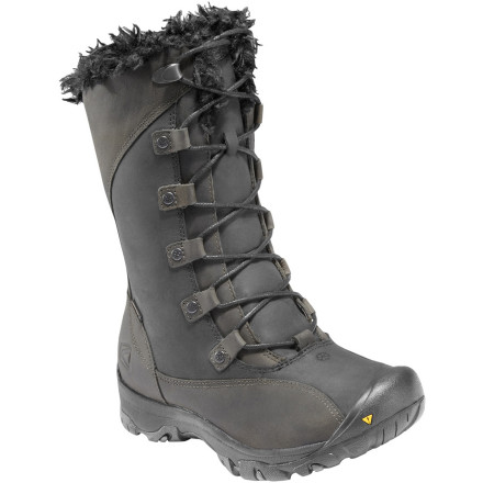 'Oh ... well hello there, KEEN Women's Bailey High Boots,' you think to yourself as you eye their feminine-looking yet rugged exterior. Sturdy materials and a great look are ready to escort your toes through the cold winter months. - $67.48