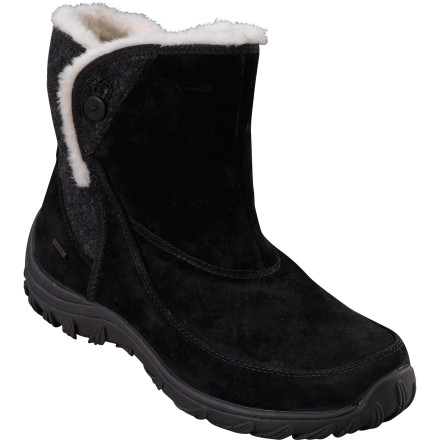 Wrap your lucky dogs in Women's Atlee Snap Boots from Patagonia and kiss the winter chill goodbye. These stylish boots feature waterproof pigskin uppers with 100 gram Primaloft Eco insulation and  200 gram polyester lining for warmth no matter what the weather is doing. - $99.00
