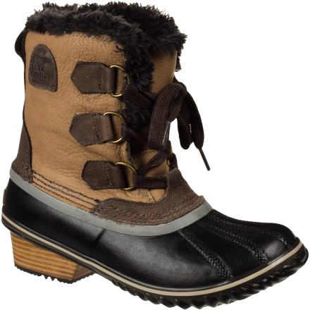 Ski The Sorel Women's Slimpack Pac Boot serves up wintertime style and enough warmth to get you from the ski lodge to the bar and beyond. These lightweight boots are great for wandering ski-town shops and any other time you want serious protection from the cold along with serious style. - $101.97