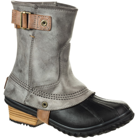 One look at the Sorel Women's Slimpack Riding Short Boot and you're struck by its timeless design that's borrowed from the simple and functional style of equestrian footwear. This boot, the lightest and slimmest of Sorel's Pac boot line, is warm enough for winter and tough enough for the barn or kicking around town. And although its lightweight construction might leave you questioning the comfort, the Slimpack Riding Short Boot complements its iconic silhouette with smooth leather and a warm fleece lining. - $95.97
