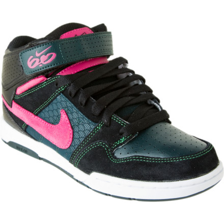 Skateboard If you want your shoes to do all the talking for you, snag a pair of the Nike Womens Air Mogan Mid 2 Skate Shoes. With the classic mid-top design, vibrant in yo face colors, and next-level innovations like Nike Air. You can keep your mouth shut and two-step your way around town. - $71.96