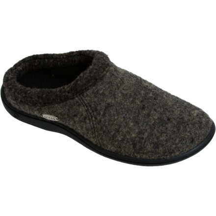 Entertainment When you're constantly popping in and out to fetch the paper, let out the dog, drive the kids to school, and so on, you need slippers that can do double-duty. Fortunately, the Acorn Women's Digby Slipper sports a substantial TLC non-slip weatherproof outsolecomplete with a one-inch heelso you can head outdoors without worries. Once you're back, you can enjoy the classy Italian wool-blend felt uppers, and keep your feet snuggled into the microfleece lining and soft sherpa fleece footbed. - $29.97