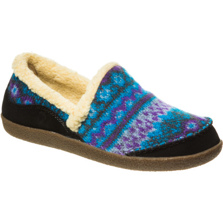 Entertainment The Acorn Women's Crosslander Mocs' rubber outsoles easily go from the living room onto the porch and across the street to the coffee shop, and the hand-pressed natural jute on the outsoles provides non-slip traction so you won't end up wiping out along the way. - $39.98