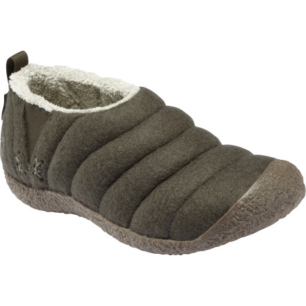 Entertainment Your feet have carried you countless miles, spent hours squeezed into ski boots, and held you up all day when they probably needed a rest. The KEEN Women's Howser Wool Slippers treat your feet to luxurious comfort because, after all, they deserve it. - $29.23