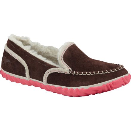 Entertainment Bunny-slipper comfort and outdoor-appropriate, the cool-looking Sorel Women's Tremblant Moc slipper-shoe goes straight from bedroom to grocery store, skipping the embarrassment. The other best things are its woolly insulation, suede sophistication, removable footbed, and grippy sole that won't get soggy like fuzzy bunny. - $50.97