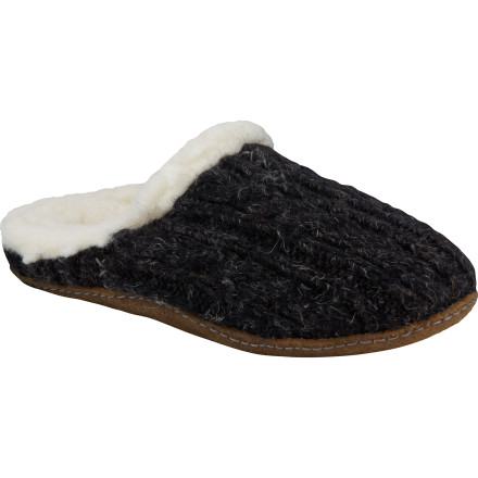 Entertainment The Sorel Women's Nakiska Slide Knit Slipper is like a warm cozy bed for your feet. Slip these comfy little slippers on and forget about the stresses of the day. When you're feet are happy, you will be too. - $63.71