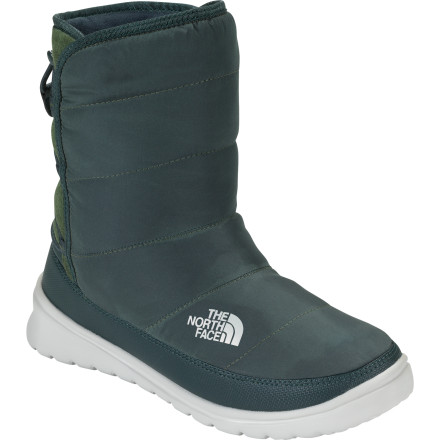 If there's anything better than a soft, snuggly puffy jacket, it has to be a soft, snuggly puffy bootie like The North Face Women's Lorette Boot. Slip into this irresistibly comfy boot when you're puttering around the cabin or lodge on a wintery evening, or when you need to dash to the store for more hot-chocolate makings. - $47.97