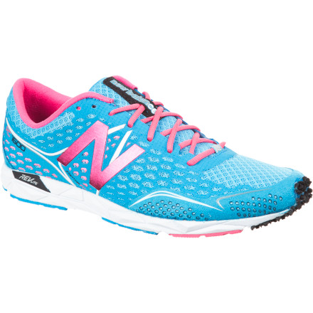 Fitness The nearly flat New Balance Women's WRC1600 Running Shoe provides enough cushioning for a dozen or more miles on the road while still maintaining a lightweight design fast enough for racing and breaking your own long-distance records. - $71.47