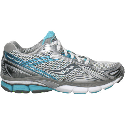 Fitness High-mileage training regimens don't have to trash your body, at least not when you're wearing the Saucony Women's Powergrid Hurricane 14 Running Shoe. This full-featured shoe offers maximum support for seven-days-a-week runners and high-mileage runs. While generously cushioned and offering support for pronators, the shoe features a relatively small 8mm heel-forefoot drop to encourage a more natural stride. - $69.98