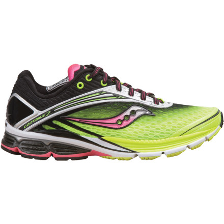 Fitness Saucony pulled off an astonishing feat by taking nearly an ounce off of the already-lightweight Women's PowerGrid Cortana 2 Running Shoe. It did this by upgrading the airy mesh and streamlining the design up the upper while keeping the award-winning response and low-profile cushioning underfoot the same. - $149.95