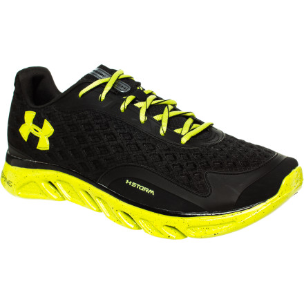 Fitness Lace up the Women's UA Spine RPM Storm Running Shoe and neither long distances nor wet weather will stop your run. The clever engineers at Under Armour endowed this performance road shoe with a water-repellent coating on the upper that keeps your toes dry when the rain falls during your run. Underfoot, this shoe feels like a lightweight distance kick with the smooth ride of a stability shoe when you're moving fast on rough terrain. - $65.97
