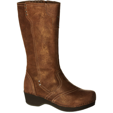 You love the clog; you'll go coo-coo for the boot. With the calf-high Dansko Women's Crepe Boot in vintage suede, you'll have the same rockered, flexible, and cushioned support of the shoe, plus the high-style coverage of a boot. It's just more to love. - $136.47