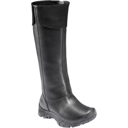 Entertainment Why stay cooped up in a four-hundred-square-foot apartment, when you can slip on the KEEN Women's Laken High WP Boot and roam acres of outdoor space' This waterproof, insulated, and chic leather boot is all about mileage, no matter what the weather. - $94.98