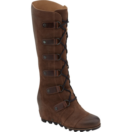 Ski The Sorel Women's Joan Of Arctic Leather Wedge Boots blends big-city fashion with a winter-ready sole to keep you looking good in any season. Lace these boots up and rub shoulders with celebrities at winter film-festivals or stroll ski-town streets in style. - $229.46
