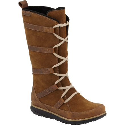 Entertainment If only all sensible shoes were this awesome-looking. The stylish, warm, and waterproof Sorel Women's Liftline II Boot takes you off the hill and onto town with seamless swagger. Because soggy feet never look good. Or feel good; a PU molded midsole ensures that won't be an issue, either. A lace-up, semi-high shaft and faux fur lining almost make you forget this pretty face has a rugged soul. - $157.47