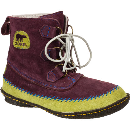 Simplicity lies at the heart of the Sorel Women's Joplin Boot. With suede on top and a soft, flexible crepe outsole on the bottom, this boot borrows inspiration from female rockers of the '70s. Dance around the house in this boot, wear it when you hit the coffee shop during the dry season, or pack it in your suitcase for comfortable travel footwear. - $74.97