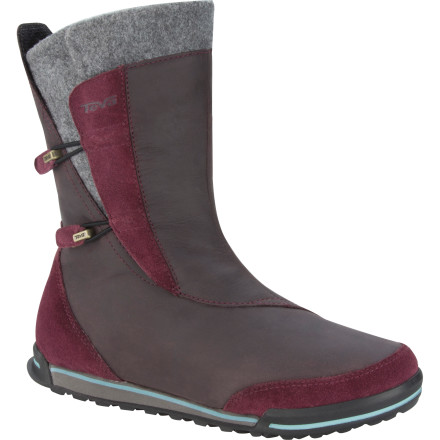 Entertainment Style, character, and durable outdoor tech combine to make the Teva Women's Haley WP Boot a fall essential. The TIDE Seal waterproof breathable membrane seals out wet weather, and trail-grade traction means that slippery floors will need to watch out for you instead of the other way around. - $83.97