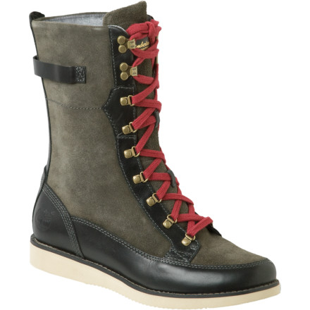 Entertainment You'd like a mid-height winter boot (about a nine-inch shaft, say) that can be dressed up just a bit (jean-skirt and a trench-style coat) and dressed down, too (dog-walking outfits). Welcome to the Timberland Brattle Tall Boot. - $79.98