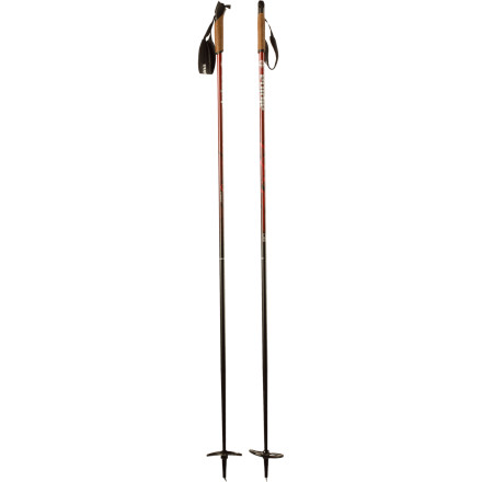 Ski Wherever you plan to explore this winter, the Alpina BC Cross Country Pole will reliably perform each stride and kick of the way. The sleek cork handle provides a secure and comfortable grip while the wide, adjustable strap provides the support you need. - $41.21