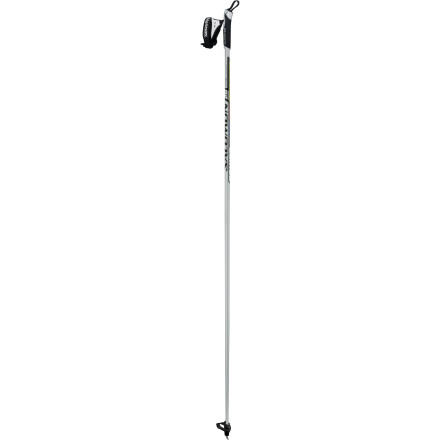Ski Strong and swingable, the Salomon Equipe 20 Carbon Ski Pole with versatile, aerodynamic basket will plant its way up and down any trail. With a comfortable EVA grip that responds with economic precision, you can go up and down, and round and round. - $35.00