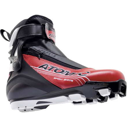 Ski While the Atomic Sport Skate Boot does borrow performance features like precision and control from its big brother (the Sport Pro Skate boot), it also takes comfort into account. Its Sport Fit measures 104mm compared to the 102mm High-Performance Fit of the race and performance boots, and it trades a ratcheting buckle cuff closure in favor of a more flexible hook-and-loop power strap. All together, this results in a boot that provides direct power transfer from ankle to toes and delivers a fit that's snug enough around the mid and forefoot without feeling restrictive. And at just 22 grams heavier than the WorldCup Skate boot (the fully race-bred boot at the top of the performance tier), the Sport Skate is still light enough to let you move fast.And what of the flex' The Sport Skate Boot features a skate-specific flex that's more rigid than a classic flex but more forgiving than a full-blown race-style design. Atomic designed this boot as such because it understood that you want a boot for enjoying the ride and simply working up a sweat, but one that will still deliver power and support your foot when you try your hand at an all-out sprint. - $123.47