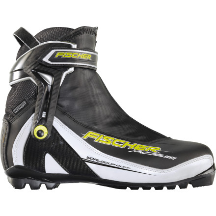Ski For ambitious skate skiers, the Fischer RC5 Skate Boot represents a top choice for both performance and fit customization. This boot is dedicated to moving fast on the groomed track, but it isn't a podium chaser by default. Fischer makes two higher-end race boots for that (and those boots are designed entirely for speed, comfort be damned). The RC5 does share some traits with those boots, like a flex cuff, canting adjustment, and a Race Concept fit, but the RC5 also features a sole with a wide forefoot to give your toes room to move and a thermo fit that ensures near-heavenly comfort for long skate sessions. Consider this boot if your skate technique is already relatively dialed and you crave a little speed, but aren't prepared to submit your foot to a full-blown race boot.Overall, the RC5's flex is stiff and its sole is medium-stiff. Coupled with the rigid external ankle cuff and the massive power strap around the ankle, this boot drives your power directly into your ski, just like its race-bred counterparts. The canting adjustment is a particularly useful option for skiers who may need to pay particular attention to lower leg or ankle alignment due to injury or basic body-angle geometry. - $149.96