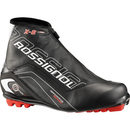 Ski Recreational Nordic skiers will find the Men's Rossignol X8 Classic Boot supportive, warm, and comfortable enough for lapping the track or exploring beyond the boundaries of the groomers. Rossignol designed this boot specifically for classical skiers who enjoy touring and weekend warriors who are looking for a versatile, NNN-compatible boot. - $104.97