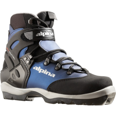 Ski The Alpina Women's BC 1550 NNN Backcountry Boot has the all features, comfort, and stability you need to keep your feet warm and dry during your full days of backcountry touring. Alpina made the BC 1550 with a coated leather lower and a plastic cuff, with a hook-and-loop power strap for easy adjustment and enough stability to break trail. Constructed on a women's-specific last, the 1550 Backcountry Boot uses Autofit padding around the ankle and a lower rear cuff for a perfect fit. The Alpina BC 1550 Backcountry Boot is only compatible with the NNN BC bindings. - $119.25