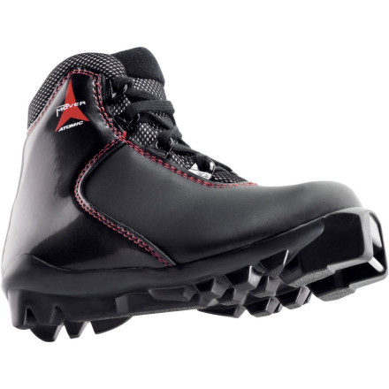 Ski Bring your little one into the woods alongside you with the Atomic Mover Junior Boot. With its high cuff, simple standard lacing and SNS Profil Touring outsole, the Mover Junior is perfect for budding nordic adventurers. A fixed heel strap offers added support for rolling terrain. - $40.48