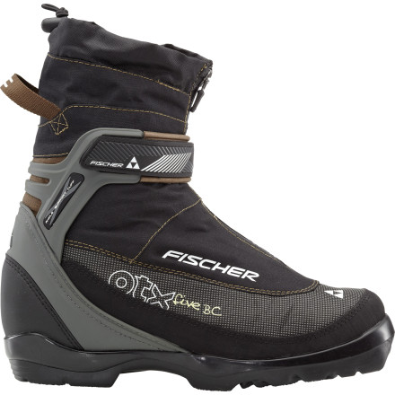 Ski Slip on the Fischer Offtrack 5 BC Boot when you've had enough of the groomed trails and are ready to make some tracks of your own. This boot's medium flex and Ankle Support Cuff give you the stability and power transfer required for uneven terrain while the wool liner keeps your feet toasty-warm. Plus, with the integrated gaiter and zippered lace covers, freshly fallen snow has no way of creeping inside. - $111.97